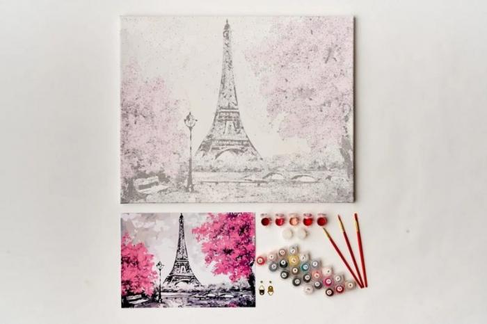 Pictură pe numere 40x50cm - Eiffel Tower in Paris 5