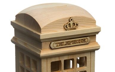 Pusculita din lemn - cabina telefonica 1