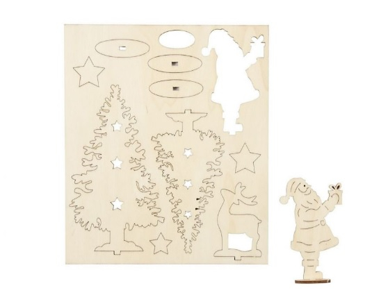 Peisaj de iarna din placaj lemn - puzzle 3D 1