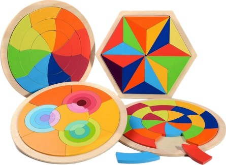 Puzzle cercuri curcubeu - joc in stil Montessori [2]