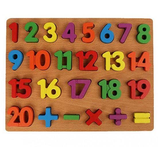 Puzzle incastru 3D - cifre [0]