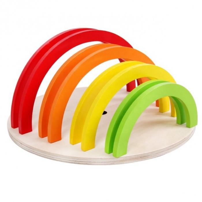 Puzzle in forma de cerc curcubeu - joc in stil Montessori [1]