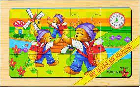 Puzzle cu 4 planse si inchidere cu magnet 0