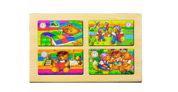 Puzzle cu 4 planse si inchidere cu magnet 1