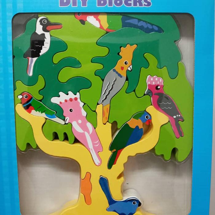 Puzzle din lemn copacul cu pasari [1]