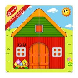 Puzzle din lemn ferma - multistrat 0