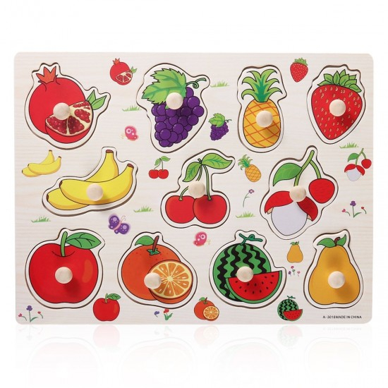 Puzzle cu pin din lemn - fructe 1