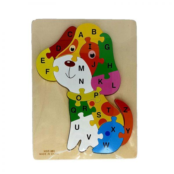 Puzzle lemn catel - alfabet [0]