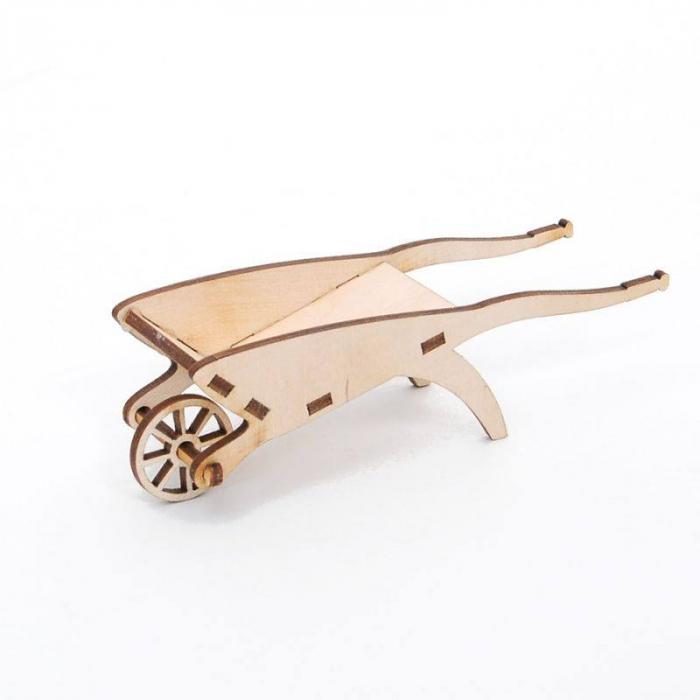 Figurină din lemn - roabă [0]