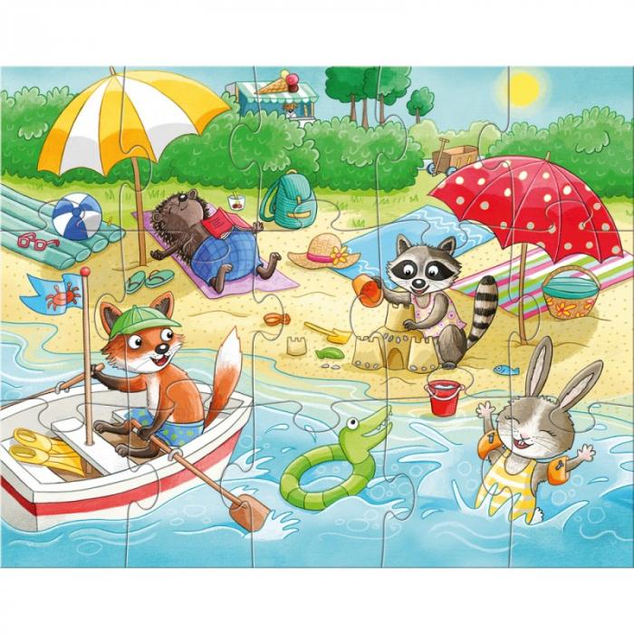 Set 4 puzzle-uri Haba - anotimpurile 2