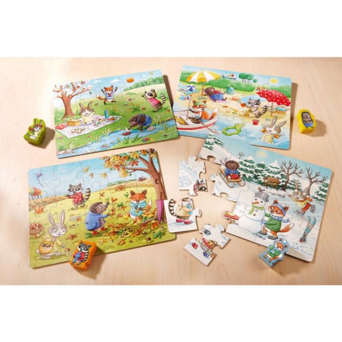 Set 4 puzzle-uri Haba - anotimpurile 5