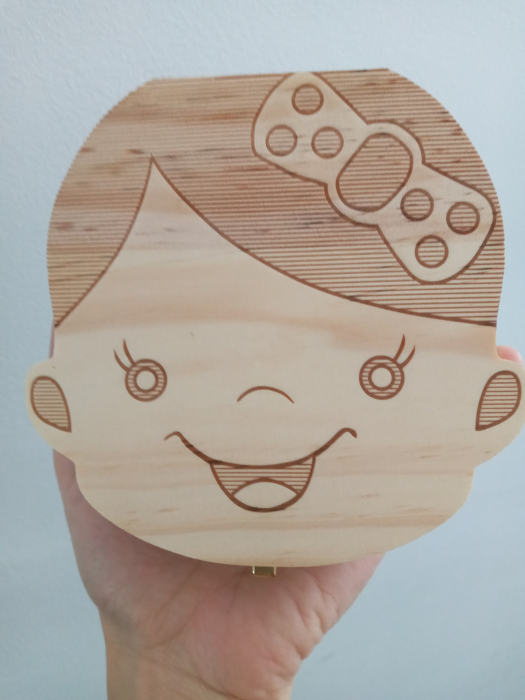 Cutiuta pentru dintisorii de lapte - model fetita 0