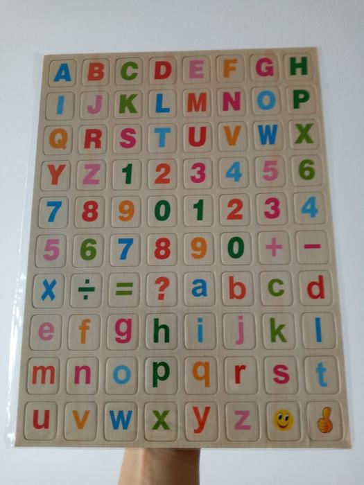 Set cifre si litere magnetice 0