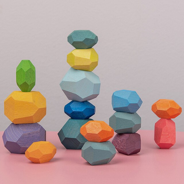 Set pietre echilibru din lemn 3