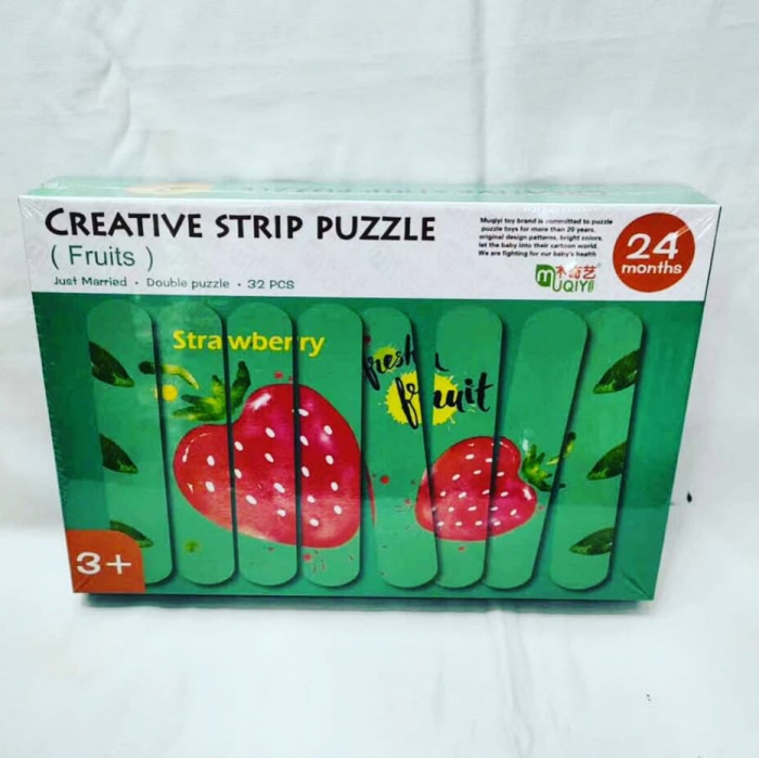 Set puzzle din betisoare  - model fructe Creative Puzzle Strips 0