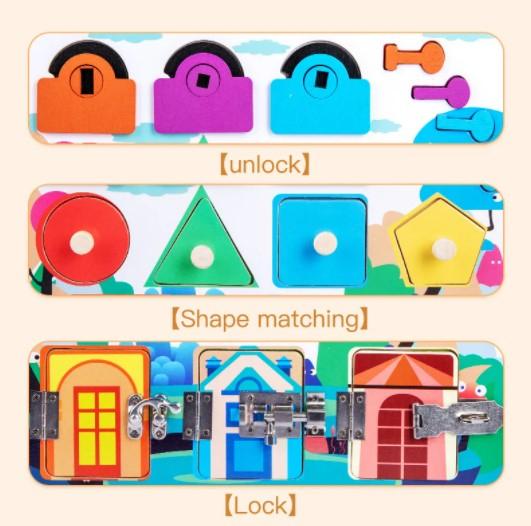 Puzzle de indemanare cu incuietori si forme geometrice [2]