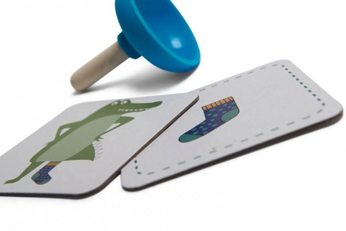 Joc de atentie Sosetele crocodilului - BS Toys 7