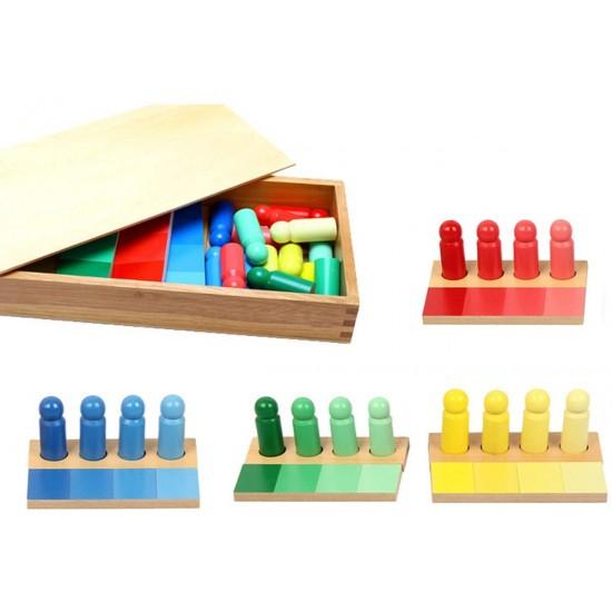 Joc de invatare culori cu pioni lemn in stil Montessori [0]