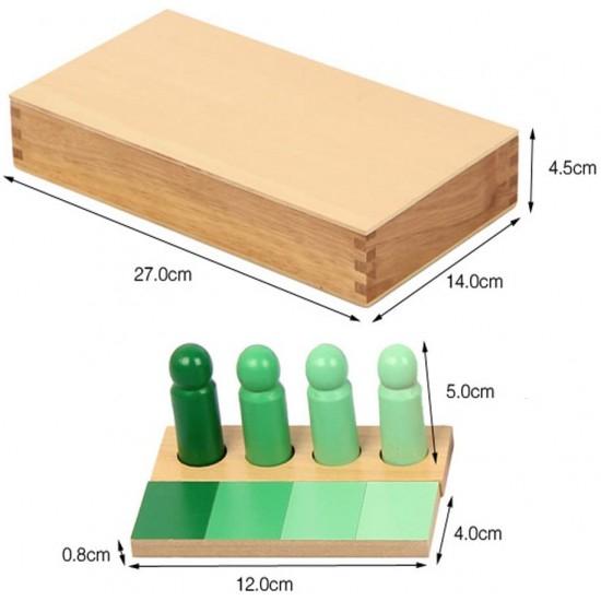 Joc de invatare culori cu pioni lemn in stil Montessori [1]
