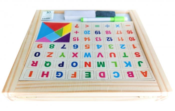 Tabla de scris pliabila din lemn cu 2 fete [2]