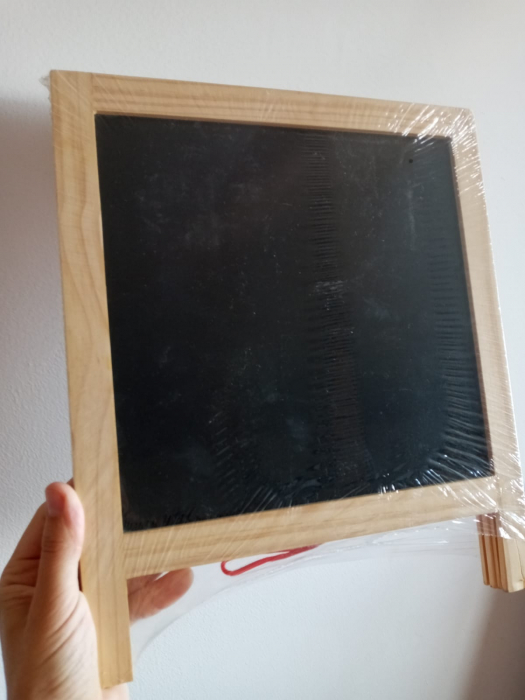 Tabla de scris pliabila din lemn cu 2 fete [4]