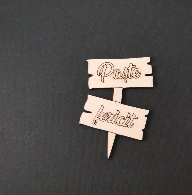 Tablita lemn - Paste fericit 0