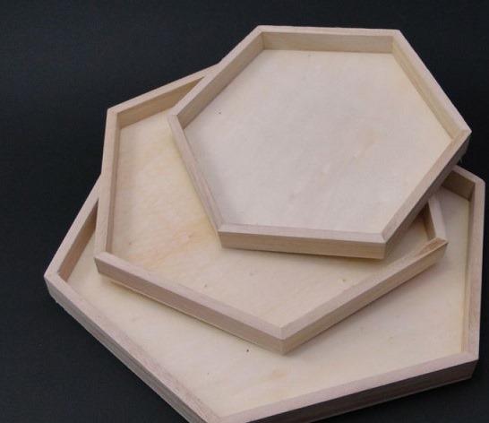 Set tava lemn - hexagonala 0