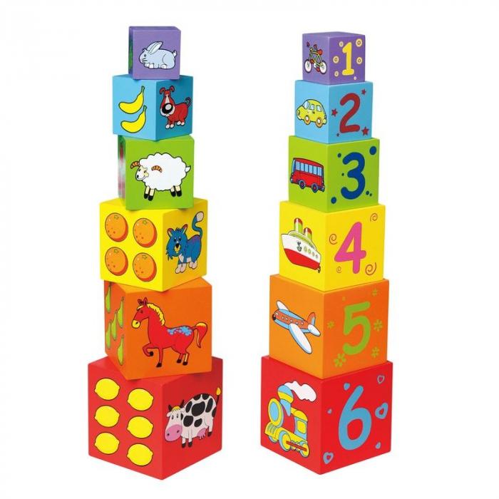 Turn din lemn - cuburi de stivuit Viga 0