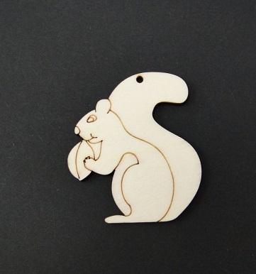 Figurina mini lemn - veverita [0]