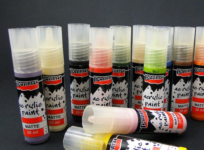 Vopsea acrilica Pentart - culori acrilice lucioase 0