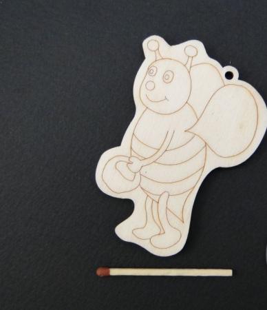 Figurina lemn albinuta [0]