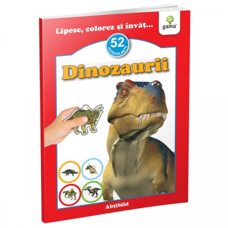 Dinozaurii - abtibild - carte cu activitati [0]