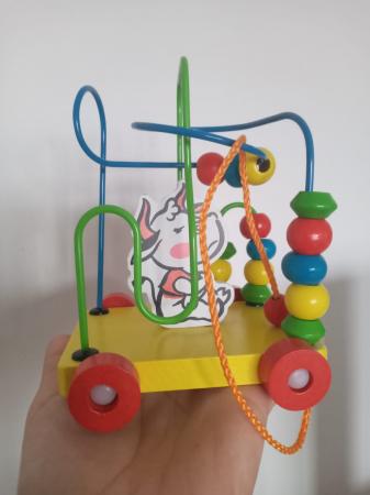 Circuit labirint de tras - cu bile din lemn si animale [0]