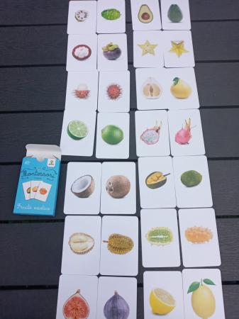 Carti de joc in stil Montessori - Fructe exotice [1]