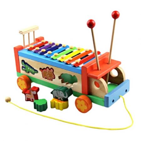 Camion de tras cu xilofon și sortator cu animalute [0]