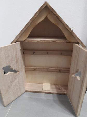 Cutie lemn pentru chei - casuta1
