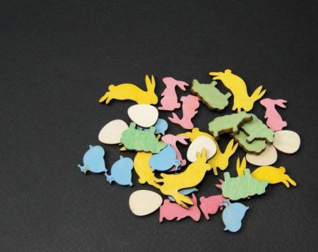 Figurine mini din lemn - iepurasi oua oite puisori [2]