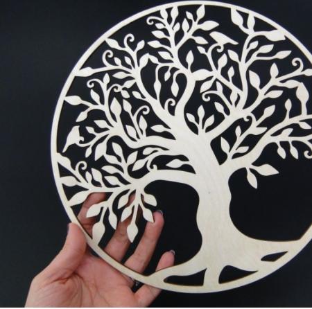 Copacul vietii din lemn 25 cm0