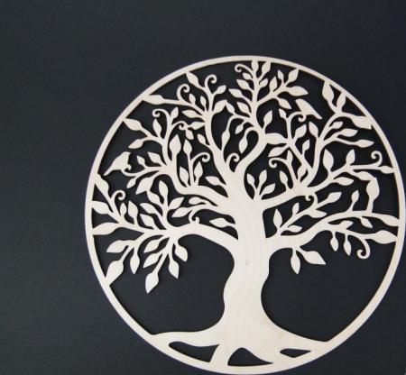 Copacul vietii din lemn 25 cm1