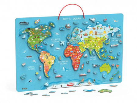Puzzle magnetic Harta lumii si tabla de scris Viga [0]