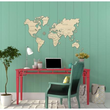 Harta lumii puzzle 3D de perete (L) - Wooden City [4]