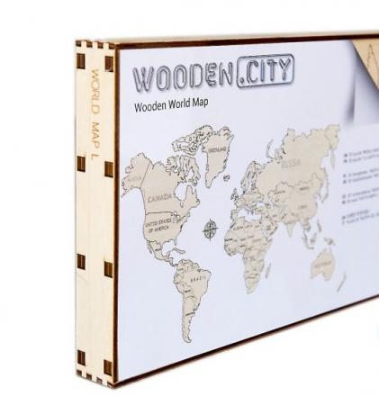 Harta lumii puzzle 3D de perete (L) - Wooden City [2]
