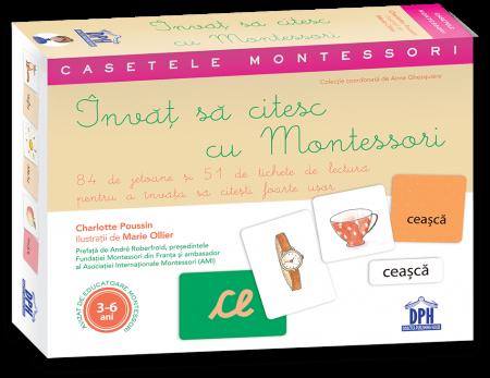 Invat sa citesc cu Montessori: 84 de Jetoane si 51 de tichete de lectura pentru a invata sa citesti foarte usor [0]