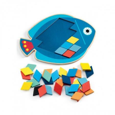 Joc tangram mozaic - puzzle in forma de peste [1]