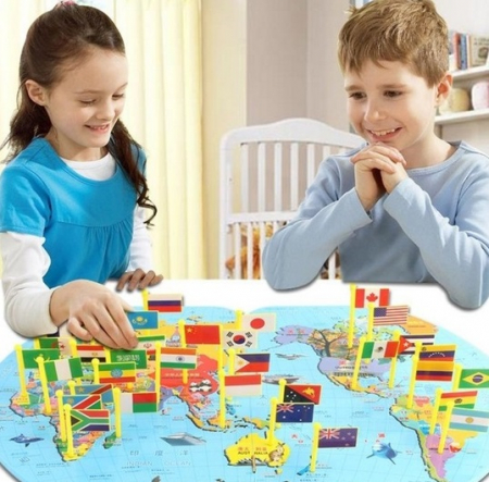 Joc harta lumii cu stegulete1