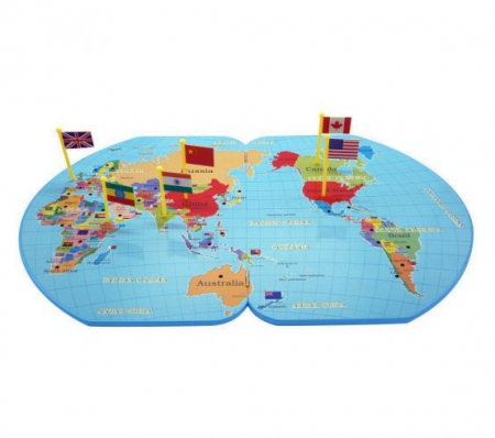 Joc harta lumii cu stegulete0