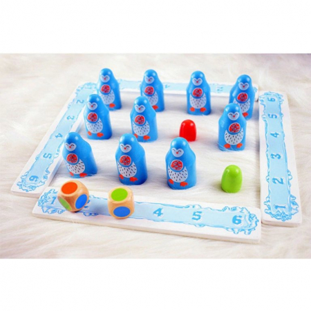 Joc memorie din lemn Pinguinii [3]