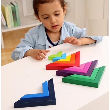 Set constructii lemn Matematice Spielmath - curcubeu [4]
