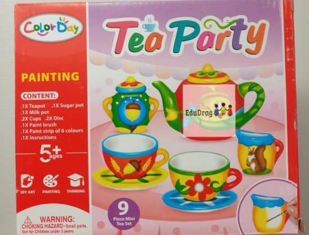 Set de ceai din ceramica pentru pictat - 9 piese [0]