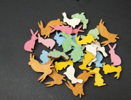 Figurine mini din lemn - iepurasi0